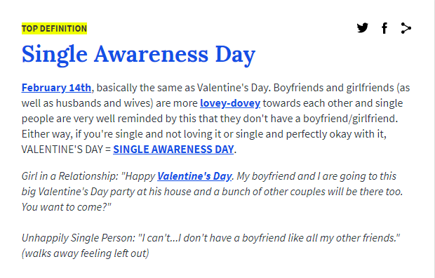 Valentine's Day Tips Single Awareness Day